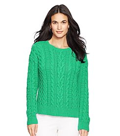 Lauren Ralph Lauren® Cable-Knit Crewneck Sweater
