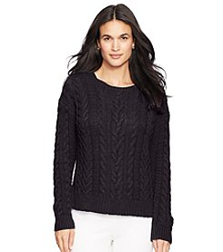 Lauren Ralph Lauren® Aran-Knit Crewneck Sweater