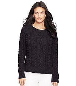 Lauren Ralph Lauren® Aran-Knit Crewneck Sweater