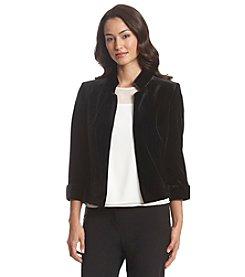 Tahari ASL® Velvet Open Front Jacket