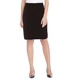 Tahari ASL® Straight Velvet Skirt