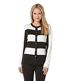 Rafaella® Color Block Cardigan