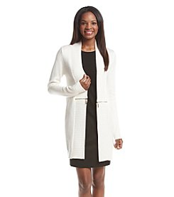 Ivanka Trump® Long Zipper Cardigan