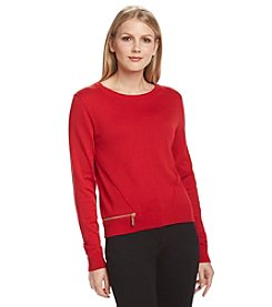 MICHAEL Michael Kors® Zip Hem Sweater