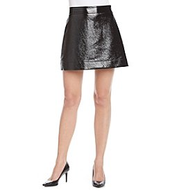 MICHAEL Michael Kors® Faux Leather Mini Skirt