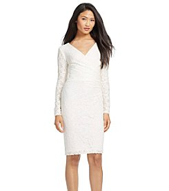Lauren Ralph Lauren® Lace Surplice Dress