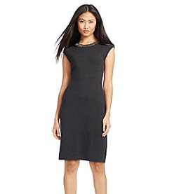 Lauren Ralph Lauren® Rhinestone-Trimmed Sweater Dress