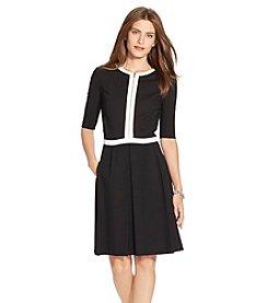 Lauren Ralph Lauren® Ponte Zipper Dress