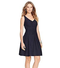 Lauren Ralph Lauren® Jacquard V-Neck Dress