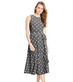 Lauren Ralph Lauren® Polka-Dot Crewneck Dress
