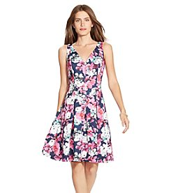 Lauren Ralph Lauren® Floral Neoprene V-Neck Dress