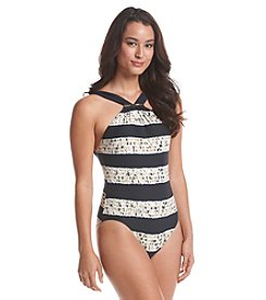 MICHAEL Michael Kors® Ashton High Neck Maillot One-Piece Swimsuit