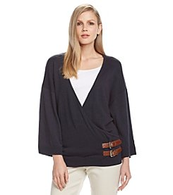 MICHAEL Michael Kors® Buckle Wrap Sweater