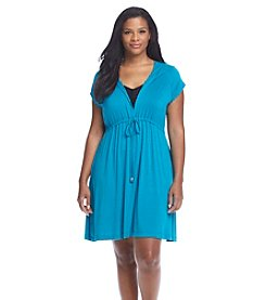 Dotti® Plus Size Ocean Avenue Hoodie Cover-Up