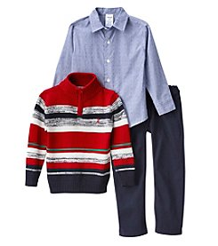 Izod® Boys' 2T-7 3-Piece Striped Sweater Set