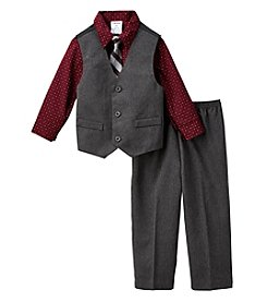 Izod® Boys' 2T-7 4-Piece Vest And Pants Set