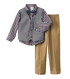 Izod® Boys' 2T-7 3-Piece Vest and Pants Set