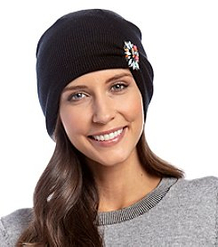 Betsey Johnson® Gem Aside Beanie