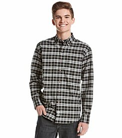 Izod® Long Sleeve Plaid Button Down Shirt