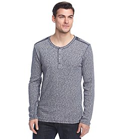 DKNY® Men's Slub Heather Ribbed Henley