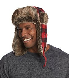 Ruff Hewn Men's Buffalo Check Trapper Hat