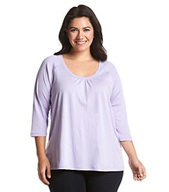HUE® 3/4 Sleeve Lounge Top