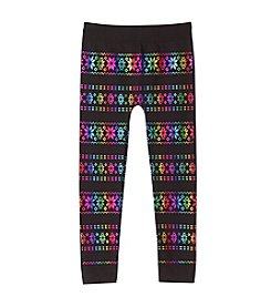 Squeeze® Girls' 2T-6X Multi Foil Snowflake Leggings