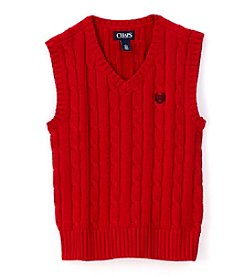 Chaps® Boys' 2T-7 Cable Knit Sweater Vest