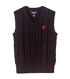 Chaps® Boys' 2T-7 Black Cable Knit Sweater Vest