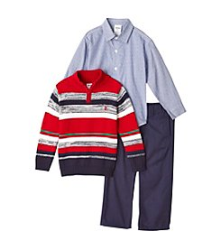 Izod® Boys' 2T-7 3-Piece Stripe Sweater Set