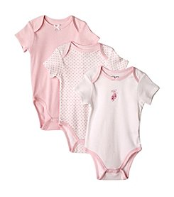 Little Me® Baby Girls' Pink Ballerina Three-Pk. Bodysuit