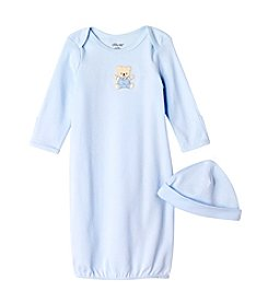 Little Me® Baby Boys Blue Cute Bear Gown