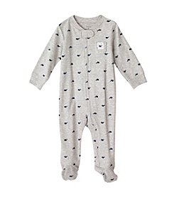 Carter's® Baby Boys Grey And Navy Whale Footie