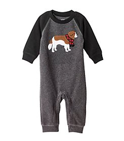 Carter's® Baby Boys One Piece Heather Raglan Dog Footie