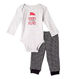 Carter's® Baby Boys Black Santas Helper 2-Piece Set
