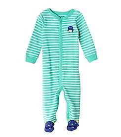 Carter's® Baby Boys Turquoise And White Monster Footie