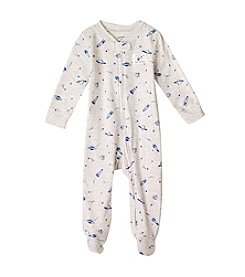 Carter's® Baby Boys Gray And Navy Spaceship Footie