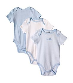 Little Me® Baby Boys' Blue Train 3-Pack Bodysuit