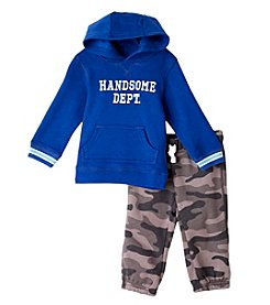 Carter's® Baby Boys 2-Piece Navy Camo Print Set