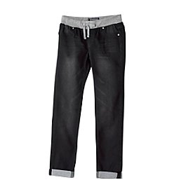 Vigoss® Girls' 7-16 Black Skinny Jeans With Knit Waistband