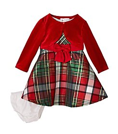 Bonnie Jean® Baby Girls' 12-24 Month Plaid Dress With Bow