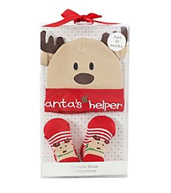 Cuddle Bear® Baby Santa's Helper Boxed Cap