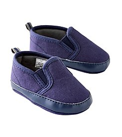 Cuddle Bear® Baby Boys Canvas Slide Soft Sole Shoes