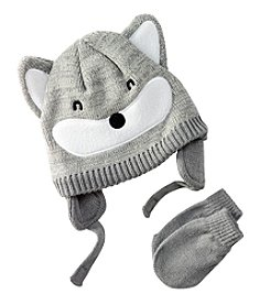 Mambo® Baby Boys Fox Hat And Mitten Set