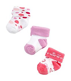 Cuddle Bear® Baby Girls' Heart Bootie Socks