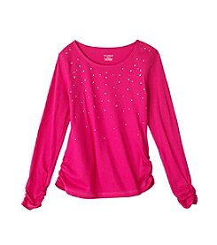 Miss Attitude Girls' 7-16 Long Sleeve Bling Tee