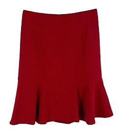 Kasper® Solid Flare Skirt