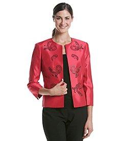 Kasper® Shiny Shantung Flyaway Jacket