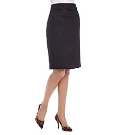 Nine West® Solid Tweed Skirt
