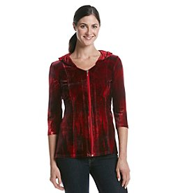 Oneworld® Velvet Zip Body Top
